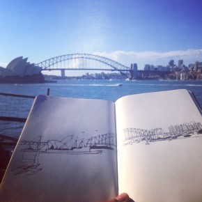 Drawing Sydney Harbour